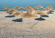 海滩遮阳伞 库存照片