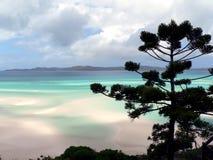 海滩避风港白色 库存照片
