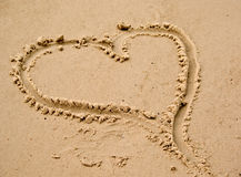 海滩重点爱沙子 库存图片