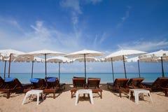 海滩长的普吉岛南泰国白色 免版税库存照片