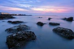 海滩长的风险照片  免版税库存图片