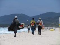 海滩闭合的摩洛哥界面 免版税库存照片