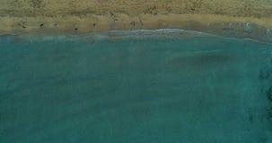 海滩顶面viewdrone射击 股票录像