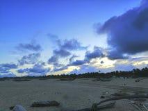 海滩风景视图  免版税库存图片