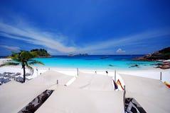 海滩风景 免版税库存图片