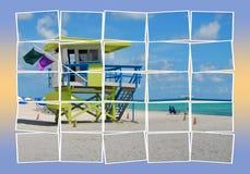 海滩风景 免版税库存照片
