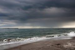 海滩风暴 免版税库存照片