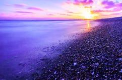 海滩风险感受产生慢的软的日落非常通知