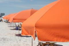 海滩风雨棚在佛罗里达 免版税库存照片