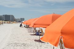 海滩风雨棚在佛罗里达 免版税库存图片