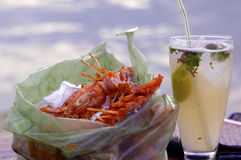海滩食物 免版税库存照片