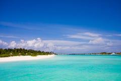 海滩马尔代夫 免版税库存照片