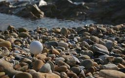 海滩高尔夫球 库存照片