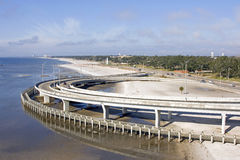海滩高速公路跨境走道 库存照片