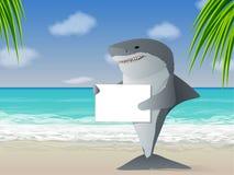 海滩鲨鱼 图库摄影