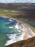 海滩鸟眼睛美丽如画的s视图 免版税库存图片