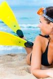 海滩鸭脚板 库存图片