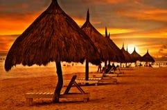 海滩黎明 图库摄影