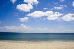 海滩黑海 免版税库存照片