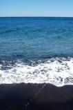 海滩黑色希腊 免版税库存照片