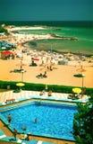 海滩黑色手段海运 免版税图库摄影