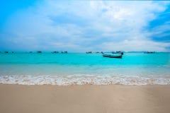 海滩,夏天,日落,热带气候,海 图库摄影