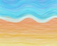 海滩水彩 免版税图库摄影