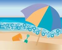 海滩 库存例证