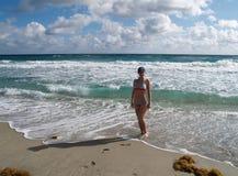 海滩beautifull 免版税库存图片