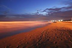 海滩bibione 免版税图库摄影