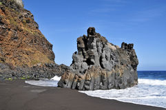 海滩bollullo加那利群岛西班牙tenerife 库存图片
