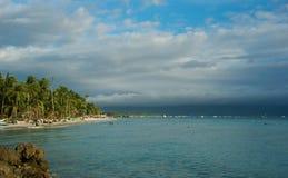 海滩boracay白色 免版税库存照片