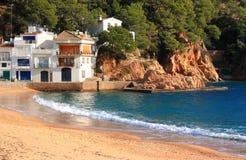 海滩brava肋前缘西班牙tamariu 图库摄影