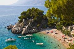 海滩brela克罗地亚 免版税图库摄影