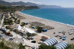 海滩burriana 免版税图库摄影