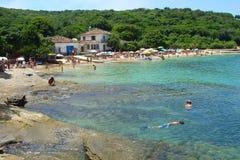 海滩buzios假期 免版税库存照片