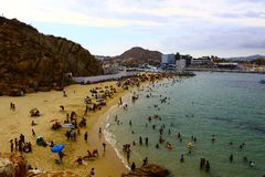 海滩cabo卢卡斯圣 库存照片