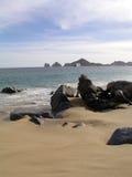 海滩cabo恋人和平的s 库存照片