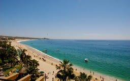 海滩cabos los medano墨西哥 免版税库存照片