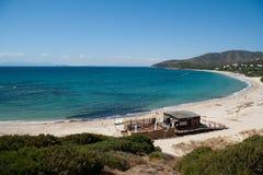 海滩cala塞雷纳 库存图片