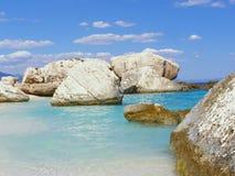 海滩cala意大利mariolu撒丁岛 免版税库存图片