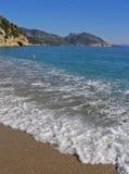 海滩cala海湾意大利月神orosei撒丁岛 免版税库存照片