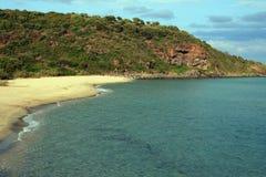海滩cala cartoe撒丁岛 库存照片