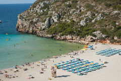 海滩cala en搬运程序 免版税库存照片