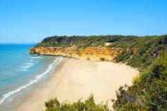 海滩cala fonda西班牙塔拉贡纳 免版税库存照片
