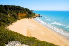 海滩cala fonda西班牙塔拉贡纳 图库摄影