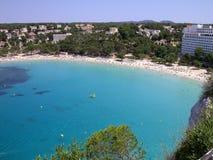 海滩cala galdana menorca 库存图片