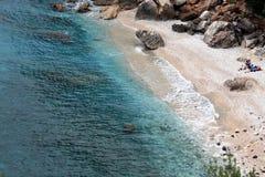 海滩cala gonone撒丁岛 库存照片