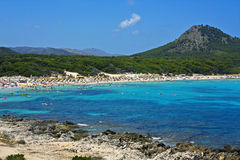 海滩cala majorca ratjada 免版税图库摄影