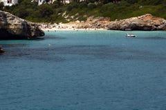 海滩cala mallorca mandia 库存照片